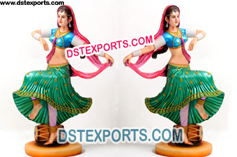Dancing Lady Statue For Indian Wedding Decoration