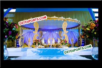 Gorgeous Wedding Wooden Paisley Mandap