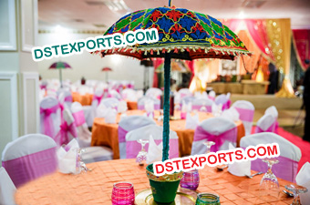 Indian Wedding Table Decoration Umbrella