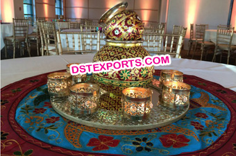 Indian Wedding Meenakari kalash Decoration
