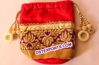 Wedding Decorated Shagun Potli Bags