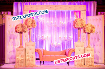 Wedding Tufted Leather Backdrop Panel With Crysta