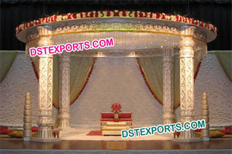 Lotus Pillar Wedding Mandap