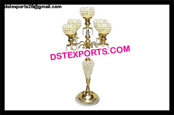 Gold Crystal Wedding Candelabra