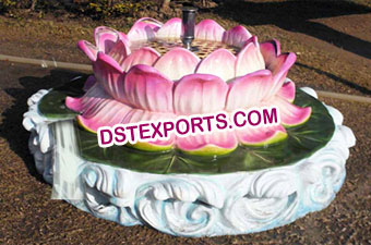 Fiber Lotus Water Fountain