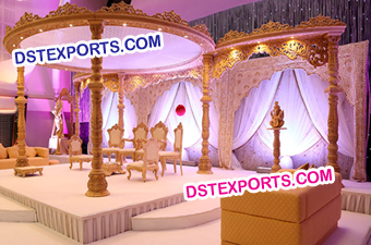 Wedding Designer Wooden Pillars Mandap
