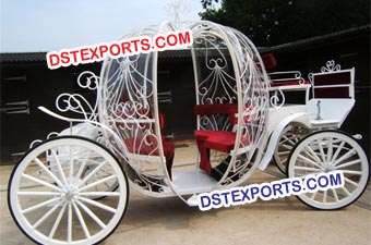 Luxury White Cinderella Pumpkin Horse Carriage