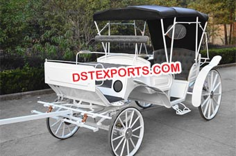 Latest Wedding White Horse Drawn Carriage
