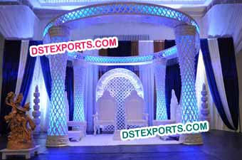 Indian Wedding Plazo Crystal Mandap