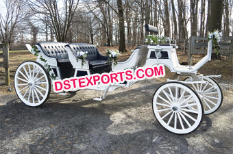Wedding White Limousine Carriage
