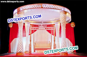 Diamond Cut Work Design Wedding Mandap
