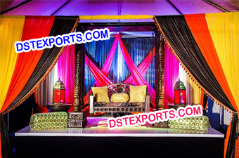 Wedding Mehndi Stage Decor