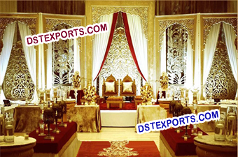 Mugal Theem Wedding Stage Backdrop Panels Walls