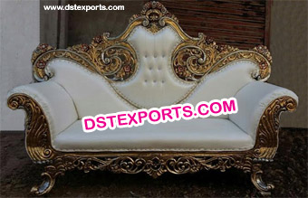 Heavy Carving Gold Plating Wedding Royal Throne