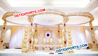 Wooden Wedding Carved Mandap