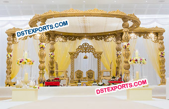 Indian Wedding Wooden Damroo Mandap