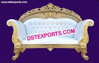 Gold Royal Luxury Wedding Carved Sofa