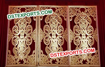 Muslim Wedding Carved Fiber Glass Back Walls