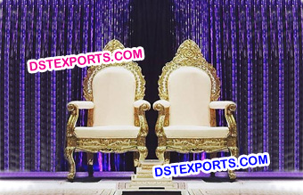 Indian Wedding Reception Throne Chairs