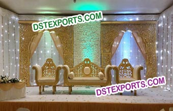 South Indian Wedding Backdrop Stage