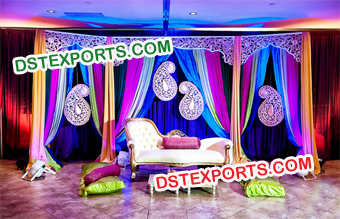 Hindu Wedding Mehndi Stage Decoration