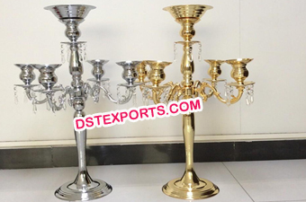 Brass Plated Candle Stand
