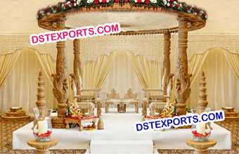 Amazing Carved Wooden Mandap