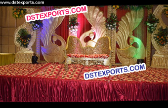 Indian Wedding Peacock Theem Backdrop Panels