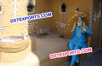 Punjabi Village Theme Decoration