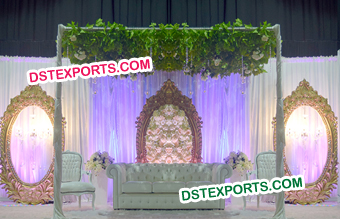 Fiber Oval Shape Wedding Stage Backdrop Frames