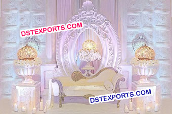 Oval Shape Backdrop Frame For Wedding Stage