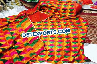 Embroidered Phulkari Bagh for Punjabi Decoration