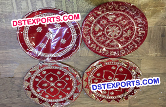 Shagun Thali Red Wedding Plate