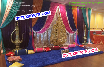 Indian Mehndi Stage Decoration Set