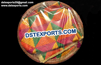 Decorated Phulkari Wedding Thaal