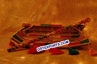 Punjabi Wedding Phulkari Decorated Chajj