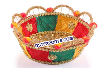 Decorative Phulkari Basket