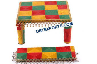 Punjabi Decorated Phulkari Maiyaan Chownki