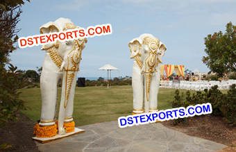 Fiber Elephants Statues for Wedding
