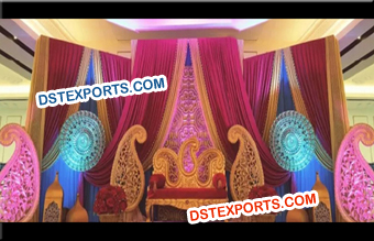 Paisley Mehndi Stage Decoration