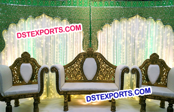 Muslim Wedding Temple Backdrop Decors