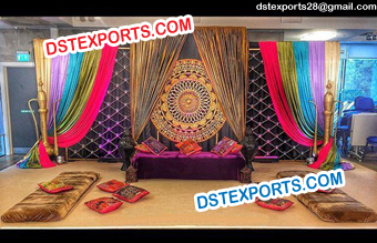 Muslim Wedding Mehndi Stage Decors