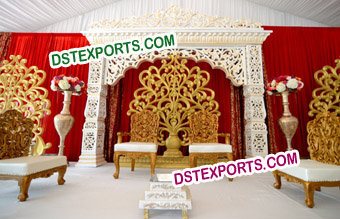 Flower Panels Carved Backdrop Panels