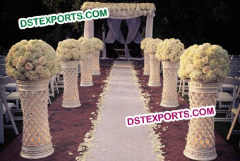 Wedding Fiber Crystal Walkway Pillars