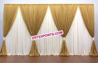 Fabric Draped Backdrop Curtains