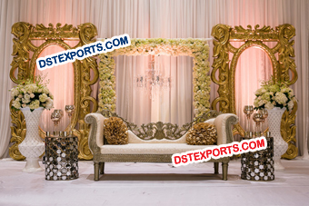 Wedding Golden Fiber Backdrop Frames
