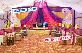 Muslim Wedding Mehndi Stage Decoration