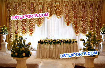 Wedding Stage Fabric Drape Swags Curtains