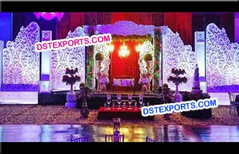 Fully Carved Fiber Backdrop Stage
