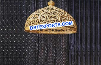 Wedding Golden Carved Chattar Decors